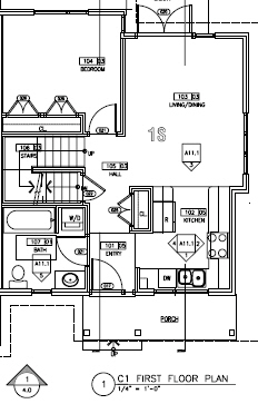 Floorplan for first floor