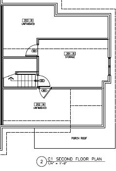 Floorplan for second floor